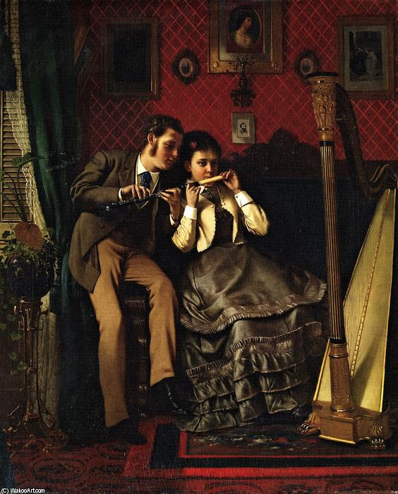 Der Musikunterricht, 1870 von John George Brown (1831-1913, United Kingdom) | WahooArt.com