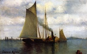 Edward Moran - New York Harbor