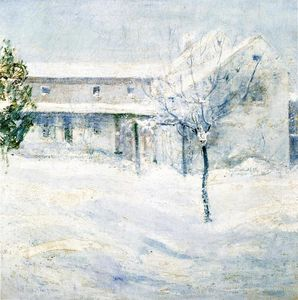 John Henry Twachtman - Altes Holley House, Cos Cob