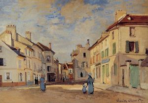 Claude Monet - The Old Rue de la Chaussee, Argenteuil