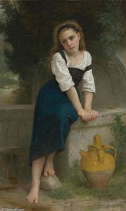William Adolphe Bouguereau - Orpheline à la fontaine