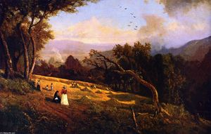 William Keith - Pastoral Scene Hillside