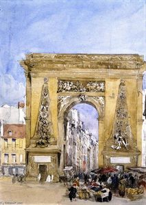 David Cox - Porte Str . Denis induced , Paris bekannt