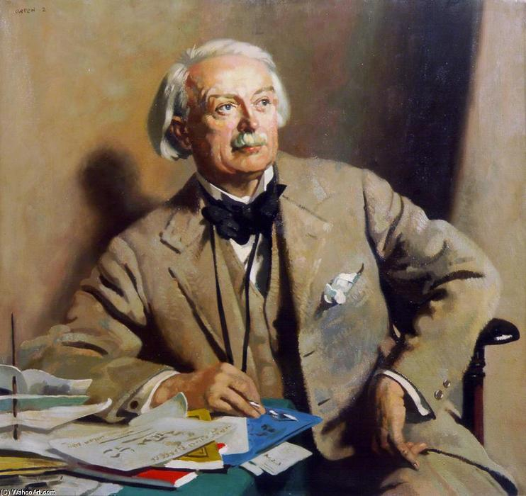 Porträt of die rt . Hon . David lloyd George, öl an segeltuch von William Newenham Montague Orpen (1878-1931, Ireland)