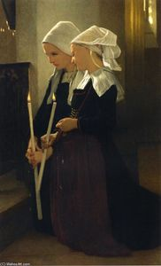 William Adolphe Bouguereau - Gebet in Sainte-Anne-d Auray