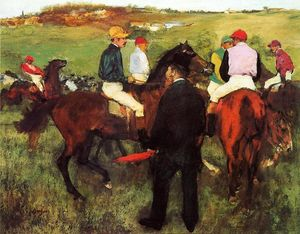 Edgar Degas - Rennpferde in Longchamp