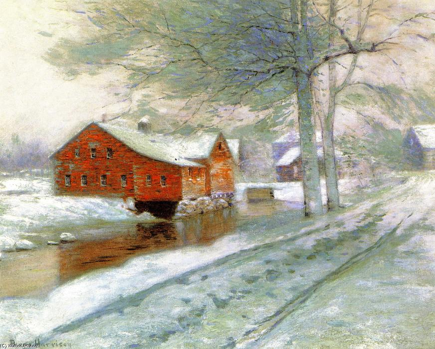 Die Red Mill, öl an segeltuch von Lowell Birge Harrison (1854-1929, United States)