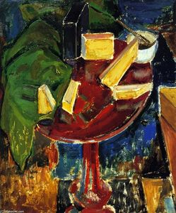 Alfred Henry Maurer - Rot Table-Top noch life