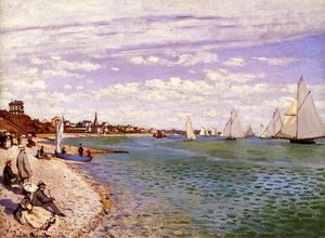 Claude Monet - Regatta bei Sainte-Adresse