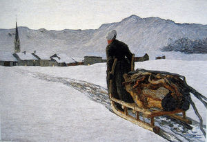 Giovanni Segantini - Return of the Wood