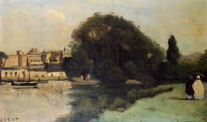 Jean Baptiste Camille Corot - Richmond, in der Nähe von London