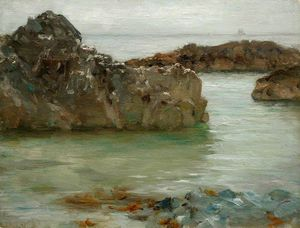 Henry Scott Tuke - Felsen am Newporth
