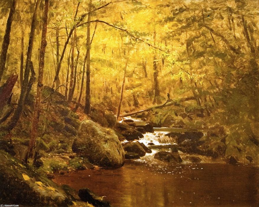 The Running Brook, öl auf leinwand von John George Brown (1831-1913, United Kingdom)