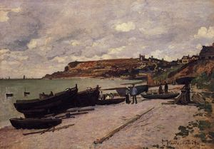Claude Monet - Sainte-Adresse , angeln boote am ufer