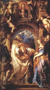 Peter Paul Rubens - St. Gregory mit Saints Domitilla, Maurus und Papianus