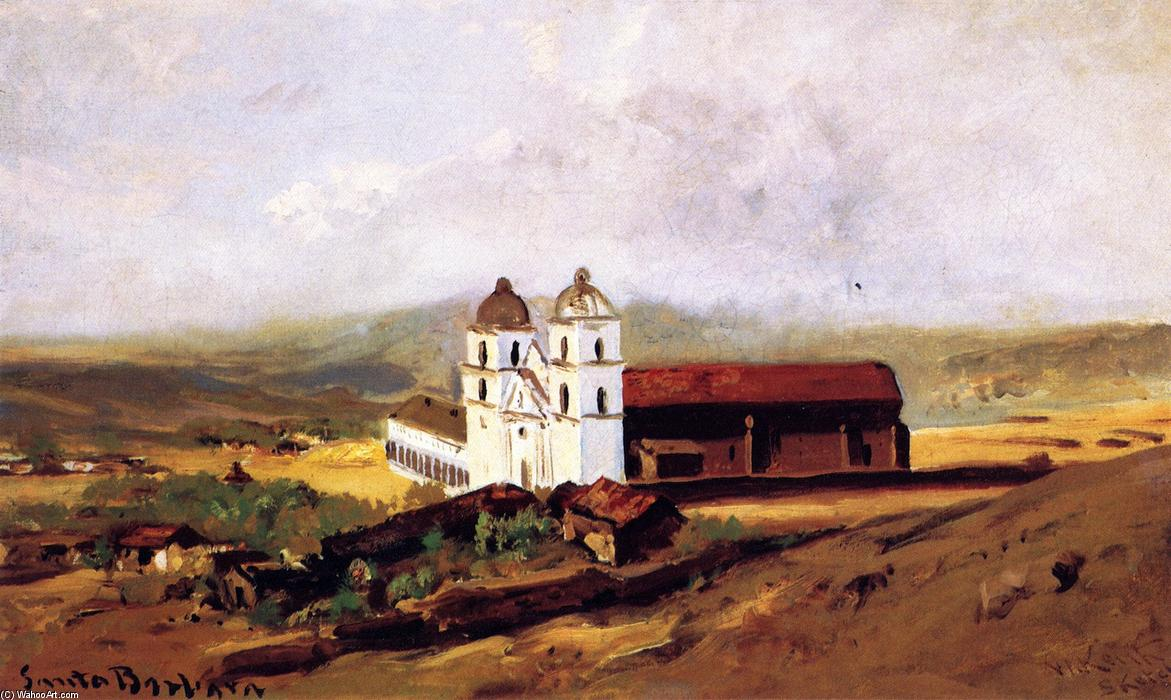 Santa Barbara Mission, 1883 von William Keith (1838-1911, Scotland) | Malerei Kopie | WahooArt.com