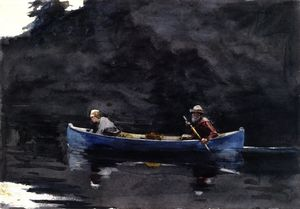 Winslow Homer - Szene in den Adirondacks