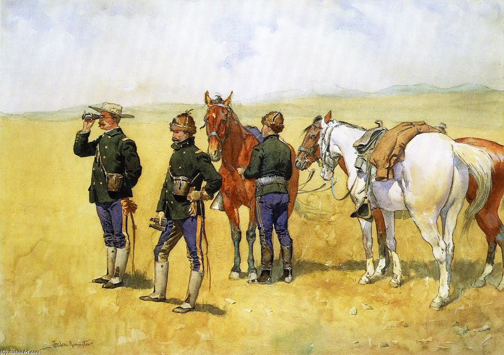 Das Scouting-Party, wasserfarbe von Frederic Remington (1861-1909, United States)