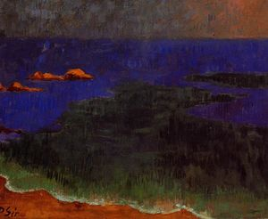 Paul Serusier - Der Sitz in Poldu: Sunset