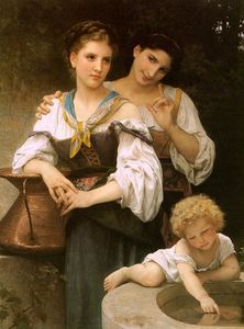 William Adolphe Bouguereau - Das Geheimnis