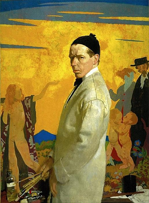 Selbstportrait, 1913 von William Newenham Montague Orpen (1878-1931, Ireland)