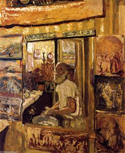 Jean Edouard Vuillard - Self-Portrait in der Dressing-Room Spiegel