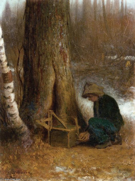 einstellung der falle von Jonathan Eastman Johnson (1824-1906, United Kingdom) | Malerei Kopie | WahooArt.com