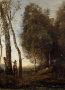Jean Baptiste Camille Corot - Schäfer und Shepherdess at Play