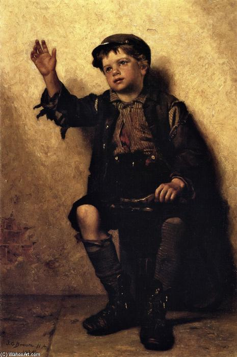 Glanz Sir?, öl auf leinwand von John George Brown (1831-1913, United Kingdom)