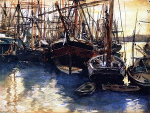 John Singer Sargent - schiffe sowohl boote