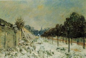 Alfred Sisley - Schnee in Marly-le-Roi