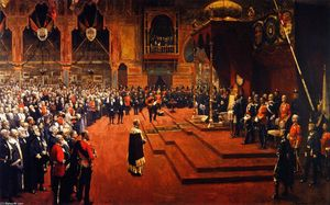 John Lavery - Staatsbesuch Ihrer Majestät, Königin Victoria, auf die Glasgow International Exhibition 1888