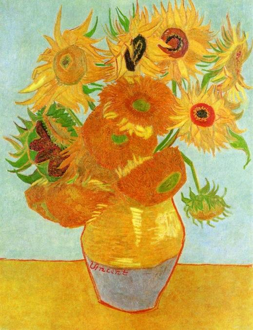 stilleben vase mit zw lf sonnenblumen l auf leinwand von vincent van gogh 1853 1890. Black Bedroom Furniture Sets. Home Design Ideas