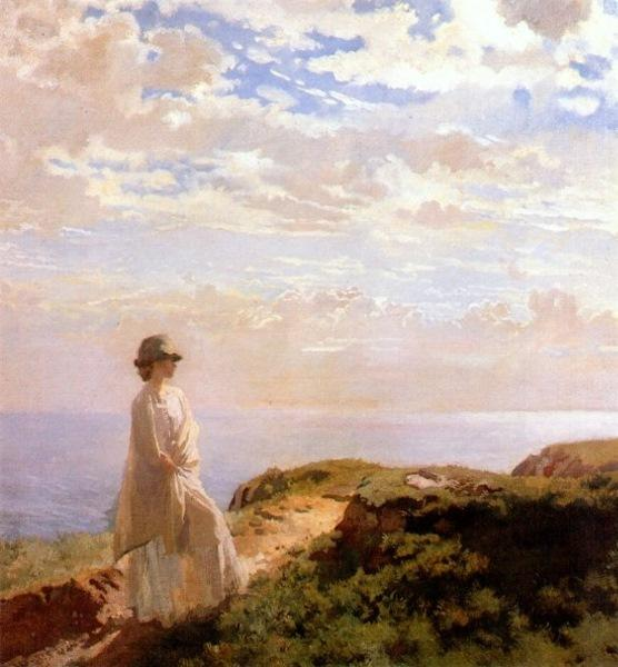 a sommer nachmittag von William Newenham Montague Orpen (1878-1931, Ireland)