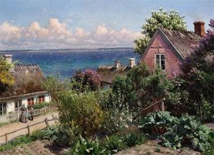 Peder Mork Monsted - Sommertag in Aalsgaarde