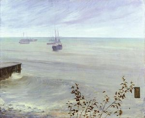 James Abbott Mcneill Whistler - symphonie in grau und grün den Meer