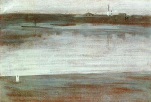 James Abbott Mcneill Whistler - Sinfonie in grau : früher morgen , Thames