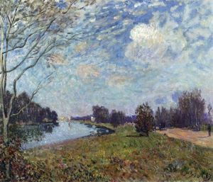 Alfred Sisley - Die Themse am Hampton Court, East Molesey