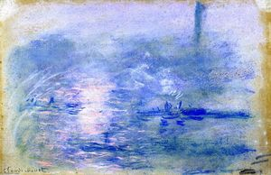 Claude Monet - Die Themse an nebel