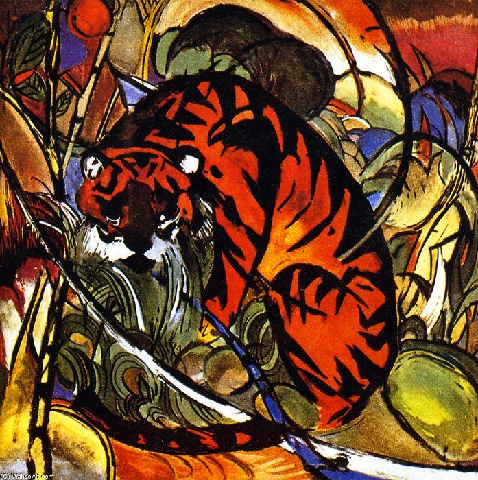 Tiger im dschungel malen von franz marc 1880 1916 germany for Dschungel malen