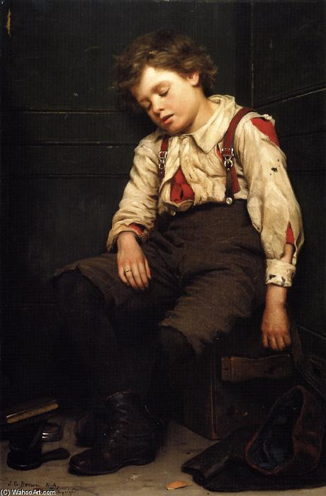 Tuckered heraus, 1888 von John George Brown (1831-1913, United Kingdom) | WahooArt.com