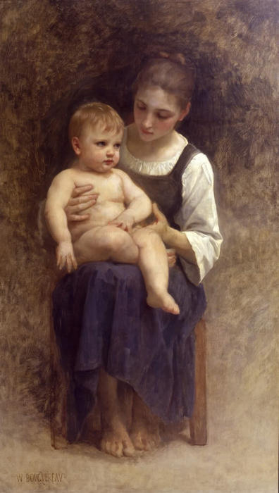 unbeendet Gemälde von William Adolphe Bouguereau (1825-1905, France)
