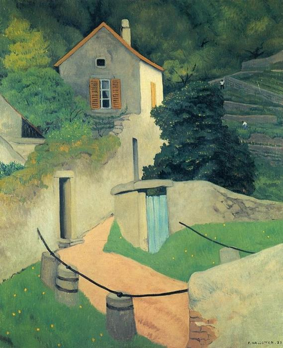 Ein Vallon Landschaft, 1923 von Felix Vallotton (1865-1925, Switzerland) | WahooArt.com
