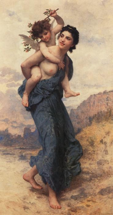 venus und cupido von William Adolphe Bouguereau (1825-1905, France) | WahooArt.com