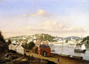 Fitz Hugh Lane - Ansicht von Norwich , Connecticut