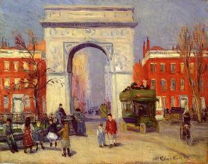William James Glackens - washington platz Park entfernt