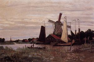 Claude Monet - Eine Windmühle in Zaandam