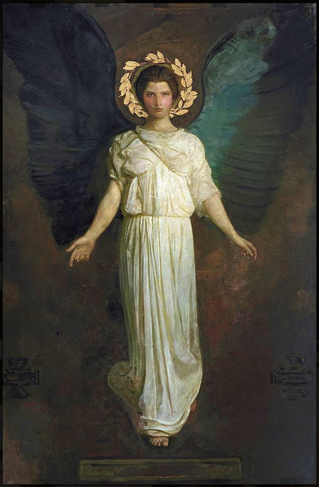 A Winged Zahl, 1904 von Abbott Handerson Thayer (1849-1921, United States)