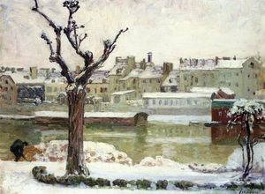 Henri Lebasque - Winter in Lagny