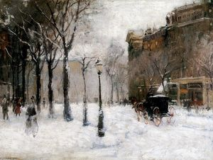 Paul Cornoyer - Winter in New York